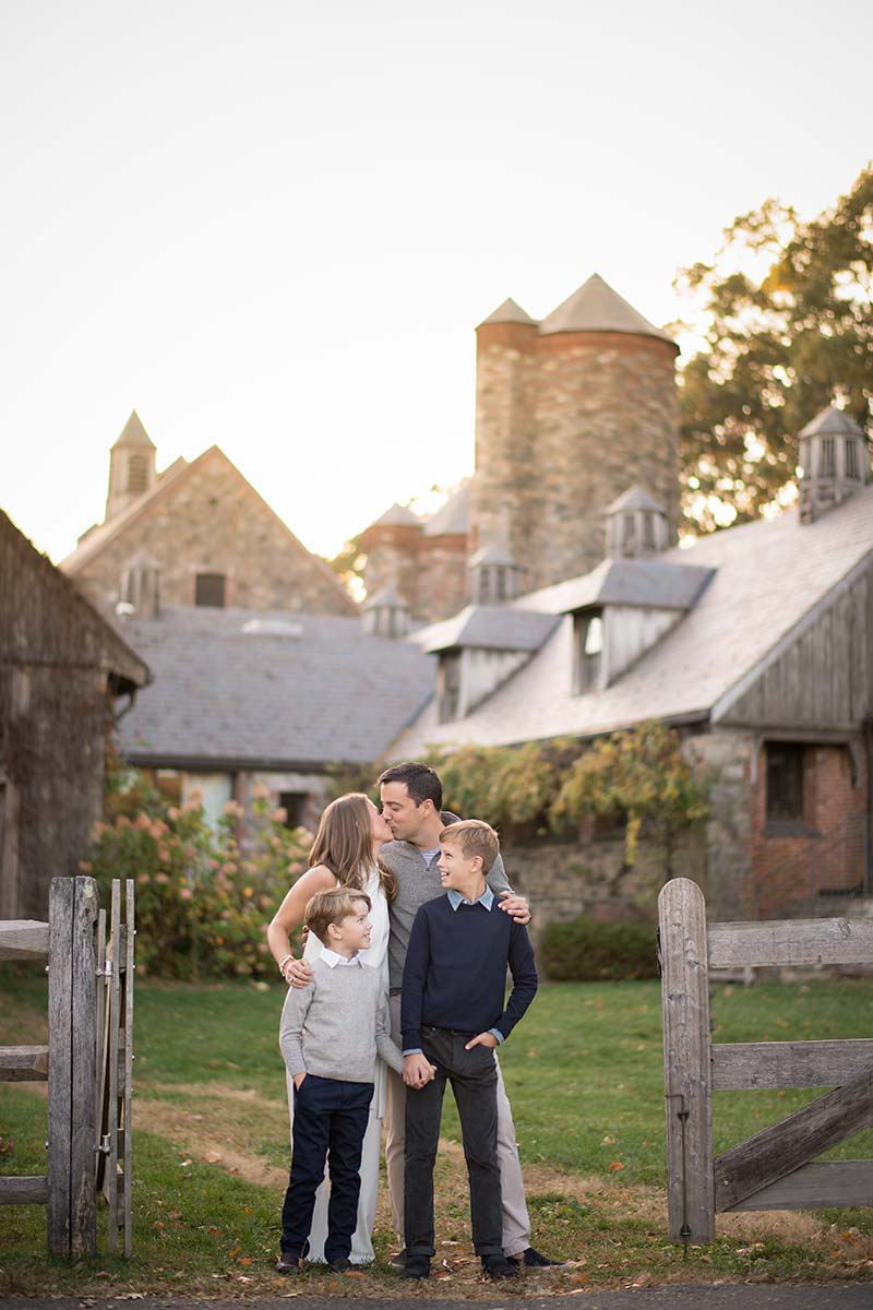 Fairy tale farm in Connecticut is the setting for this beautiful family photo