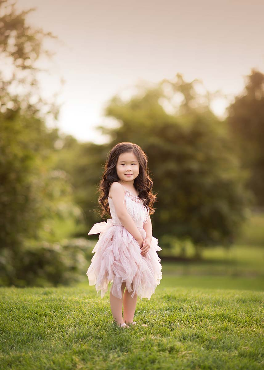 Beautiful Tutu Du Monde worn by a girl in this beautiful sunset park photo