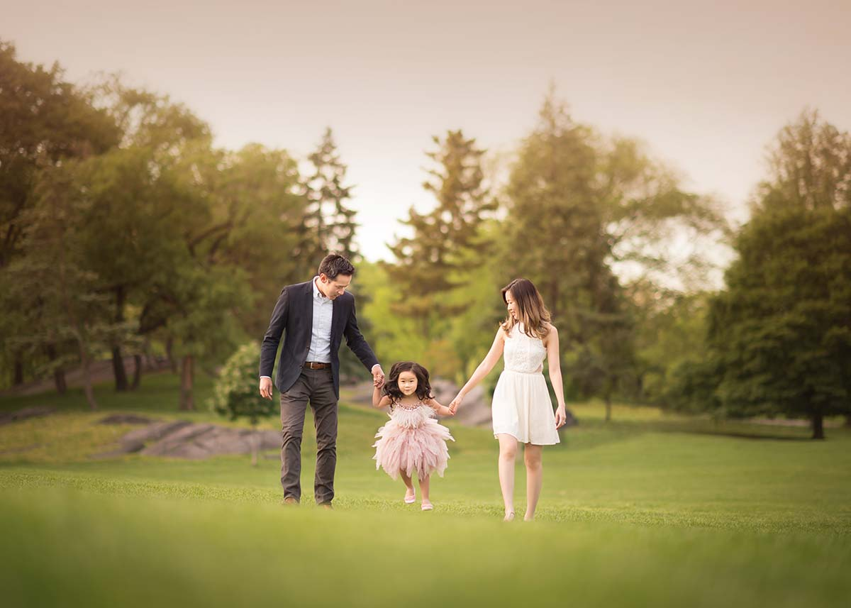 Beautiful westchester county photograph of a family playing